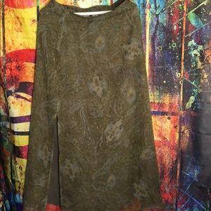 Maxi skirt with slit vintage